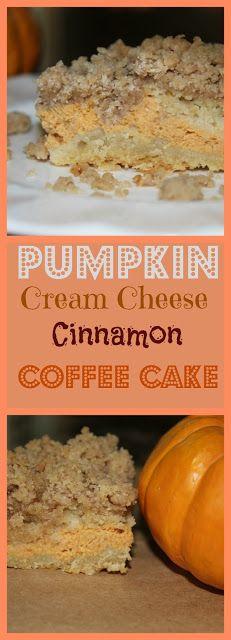 Living on Cloud Nine: PUMPKIN CREAM CHEESE CINNAMON COFFEE CAKE