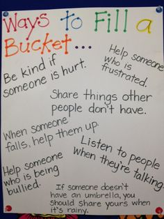 All Things Upper Elementary: Have You Filled a Bucket Today?