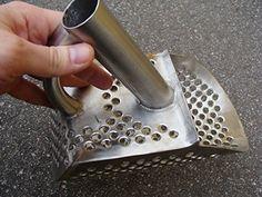 cool Beach Sand Scoop Garrett Metal Detecting Genuine Stainless Steel #2mm hole 9mm