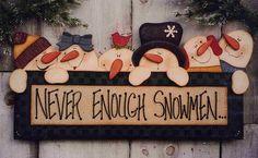 Heidi Markish wood pattern - wooden Snowman