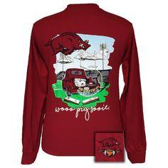 Arkansas Razorbacks Hogs Tailgates & Touchdowns Party Long Sleeve T-Shirt