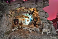 Asociación de Belenistas de Badajoz - Belén 2013-2014 Christmas Nativity Scene, Christmas Decorations, Country, Ideas Para, Painting, Collages, Dioramas, Model Building, Rural Area