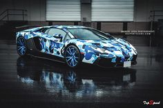 2013 Lamborghini Aventador Bape Arctic Camo by Liberty Walk