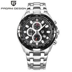 US $54.80 - Pagani Watches Men Military stainless steel Quartz Watch Luxury Brand Waterproof Multifunction Sport Wistwatch relogio masculino