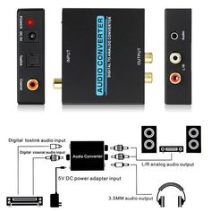 US-Deals Audio Optical Coaxial Toslink Digital to 3.5mm Analog Audio Converter Box RCA L/R: $8.95 End Date: Tuesday Mar-13-2018…%#USDeals%