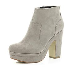 Light grey platform ankle boots River Island £50.00