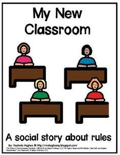 My New Classroom- A Social Story by Rachelle Hughes | TpT Classroom Expectations, Classroom Rules, New Classroom, Classroom Ideas, Behavior Interventions, Social Stories, Scripts, Teacher Newsletter, Life Skills