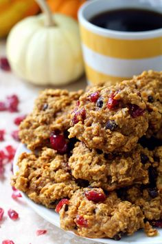 Eat these for breakfast or dessert, simply don't pass up making these Gluten-Free Pumpkin Breakfast Cookies! They& simply too good! Gluten Free Pumpkin Cookies, Pumpkin Breakfast Cookies, Pumpkin Coffee Cakes, Almond Recipes, Gluten Free Recipes, Baking, Desserts, Healthy Snacks, Paleo Treats