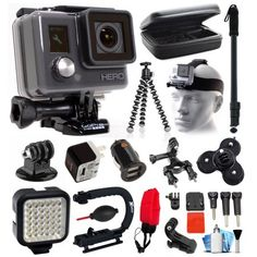 Free Shipping. Buy GoPro HD HERO Waterproof Action Camera Camcorder with Deluxe Sports Bundle includes Travel Case + Selfie Monopod Stick + Head/Helmet Strap + Charger + LED Video Light + Grip Stabilizer (CHDHA-301) at Walmart.com