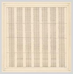 Agnes Martin, Untitled, 1960 [Whitney Museum of American Art, New York, NY] Agnes Martin, Whitney Museum, Famous Art, Ink Pen Drawings, Pen Art, Art Of Living, Minimalist Art, American Art, Yorkie