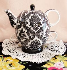 My friend Heather gave me a tea for one tea pot just like this one. I love it. It is beautiful!