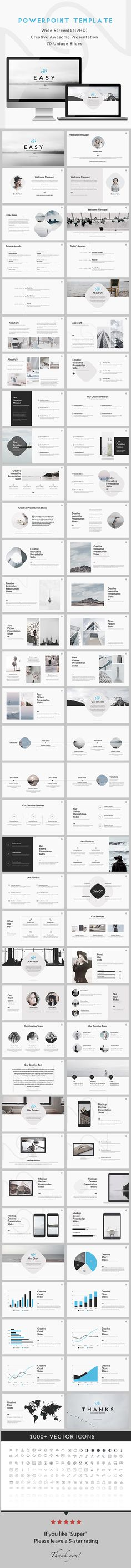 Easy  Creative Minimal Powerpoint Template  #creative #report • Download ➝ https://graphicriver.net/item/easy-creative-minimal-powerpoint-template/18369976?ref=pxcr