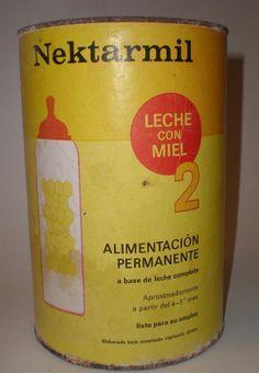 NEKTARMIL - LECHE CON MIEL 2, PVP.135 Ptas.fabricado en España por MILUPA S.A. MADRID. 1969