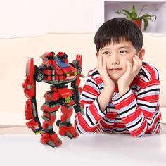 Kids Boys & Girls DIY Transformer Robot Educational Toys Building Blocks Bricks #Unbranded