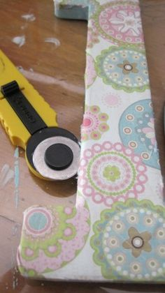 how to cover letters with fabric