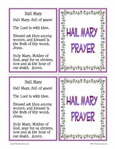 Hail Mary Prayer Learning Card Set | Catholic Religious Education Resources for Teachers and Homeschoolers