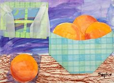 Artsonia Art Gallery - 2ND GRADE STILL LIFE WITH ORANGES '14-'15