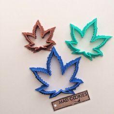 Marijuana Leaf Cookie Cutter Set - Kush Kutter - 3pcs - Plastic 3d printed (PLA) | eBay Leaf Cookies, African Crafts, Marijuana Leaves, Cookie Cutter Set, Food Crafts, Clay Art, Candle Making, 3d Printing, Impression 3d