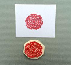 """handgeschnitzter Stempel """"Rose"""" von Arteck auf DaWanda.com"""