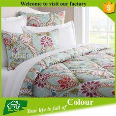 Reverse bedding comforter and sham sets luxury