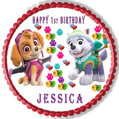 Based on the popular animates series this #Everestcaketopper is an easy-to-use #caketopper loved by kids. If you are celebrating birthday then this particular cake topper will make your cake extra special without much effort.  Save time and money. Check it out here - http://www.ecakeimage.com/paw-patrol-everest-and-skye-edible-birthday-cake-topper-or-cupcake-topper-decor/