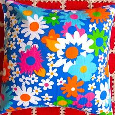Lovely floral print cushion by Pomme de Jour on the print and pattern blog.