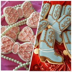 Gender Reveal Cookies: Boots or Bows?