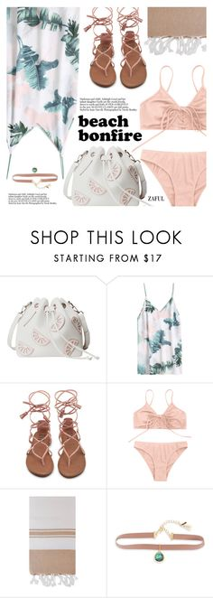 """Summer Nights: Beach Bonfire"" by pokadoll ❤ liked on Polyvore featuring Turkish-T and Lonna & Lilly"