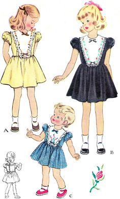 1950s Girls Dress Pattern McCall 1559 Toddler Girls by paneenjerez, $10.00