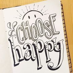 Day 22: choose happy!!! #dndchallenge . . . #happy #thedailytype #typegang #typelove #typedaily #typedesign #handmade #handdrawn #handletteredabcs #handlettered #50words #doodle #thedailytype #thedesignindex #the100dayproject