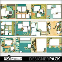 Enjoy these high quality designs by #Fit2beScrapped @MyMemoreis.com #DIgital #Creative #scrapbook #Craft #Campimg_At_The_Lake_QPs
