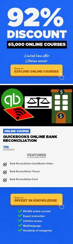 QuickBooks Online Bank Reconciliation Finance, Business #onlinecourses #CoursesBlogging #onlinedegreeuniversitiesinusaLearn QuickBooks Online bank reconciliation process, how to enter the first bank reconciliation and read the bank rec. If we are a business owner who would like more assurance about our books, a business professional who would like to advance our careerby learning the importanc...