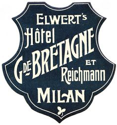 Milano - Hotel G.de Bretagne by Luggage Labels