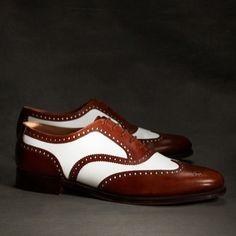 #white #brown #wingtip #oxfords #shoesformen