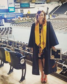 Highlights of yesterday: - graduating Magna Cum Laude - hearing my family cheering - seeing my loved ones in the stands - hearing my name announced - not falling in these heels  #niktakesflag #NAUgrad #collegegrad #honors #cumlaude #NAU by hippsternikkster