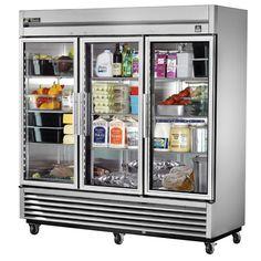 Commercial Kitchen Design, Commercial Appliances, Commercial Kitchen Equipment, Glass Door Refrigerator, Refrigerator Organization, Kitchenaid Refrigerator, Beer Fridge, Fridge Storage, Kitchen Organization