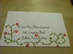 More to come with this one...I did their whole wedding after these envelopes!