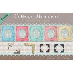 Cottage Memories Frames & Tags
