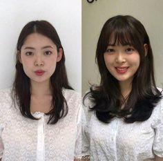 Korean Wavy Hair, Asian Hair, Korean Bangs, Medium Hair Cuts, Medium Hair Styles, Curly Hair Styles, Hair Scarf Styles, Shot Hair Styles, Scarf Hairstyles