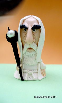 FIMO - saruman by BUZ Handmade, via Flickr porcelana fria polymer clay