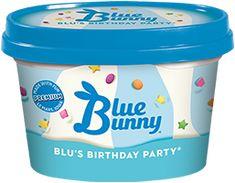 Bunny Birthday Cake, Ice Cream Birthday Cake, Flavor Ice, Ice Cream Flavors, Blue Bunny Ice Cream, Mario Party Games, Bad Room Ideas, Holiday World, Cake Flavors