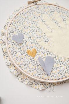 Hoop Art Tutorial: Handprint Keepsake