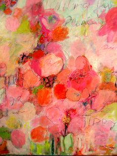 WAITING FOR THE PEONIES...artist Sandy Welch
