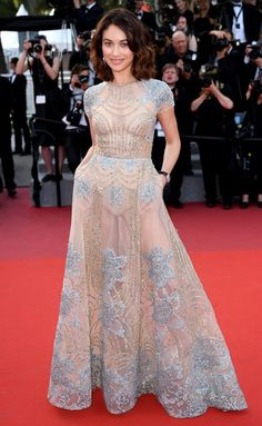 Best Dressed Stars on Cannes Red Carpet 2017 - Olga Kurylenko in an Elie Saab dress