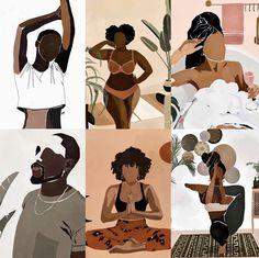 Black Love Art, Black Girl Art, Art Girl, Black Artwork, Black Aesthetic Wallpaper, Woman Illustration, Afro Art, American Art, American Women