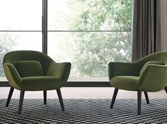 Upholstered fabric armchair MAD CHAIR by Poliform | design Marcel Wanders