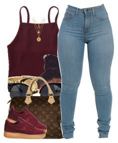 """""""6/2/16"""" by yasnikki ❤ liked on Polyvore featuring Aéropostale, Nixon, Louis Vuitton, NIKE and Juicy Couture"""