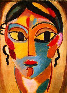 The Athenaeum - Mystical Head: Head of a Girl (Alexei Jawlensky - )