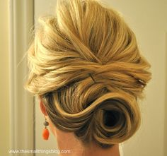 Gorgeous + simple. Perfect for the low maintenance chic bride | The Small Things Blog: Half Up to Full Updo