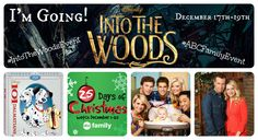 I am super excited to let all of my awesome readers know that I have been invited to LA to attend an #IntoTheWoodsEvent and #ABCFamilyEvent December 17th-19th. That means I can get the inside scoop on the movie and actors and deliver to you before it is released. How awesome is that? To get the inside scoop follow along with me on Facebook, Twitter, and Instagram using the hashtags #IntoTheWoodsEvent and #ABCFamilyEvent to see the pictures and information during the events.